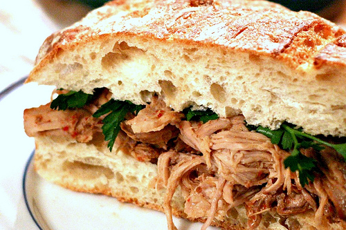 Crockpot Carolina Vinegar BBQ Pork Sandwich by The Domestic Front