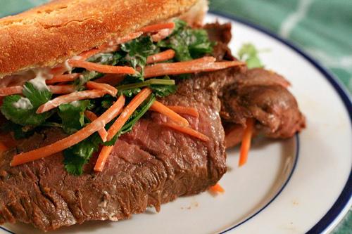 Vietnamese Viet Banh Mi Steak Sandwich Sandwiches
