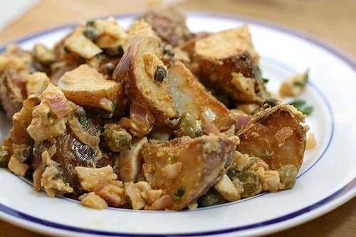 potato salad cornichons smoked paprika hard boiled eggs