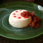 Blancmange — Toasted Almond Panna Cotta With Rhubarb