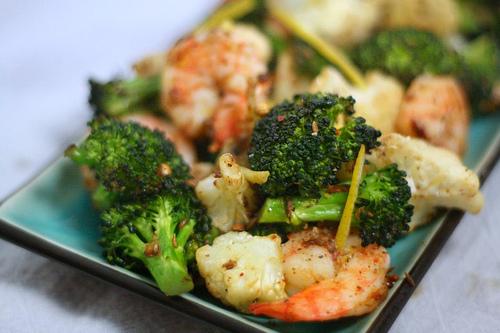 Simple Meets Sublime Roast Shrimp With Broccoli And Cauliflower