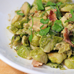 Sprout Lover — Bacon Braised Brussels Sprouts with Cream