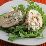 Maple Mustard Chicken with Goat Cheese and Arugula
