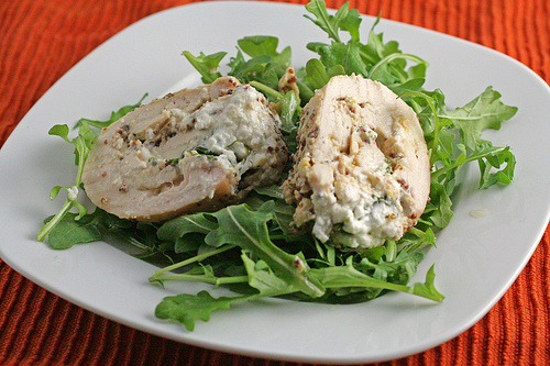 Maple Mustard Chicken with Goat Cheese and Arugula •The Domestic ...