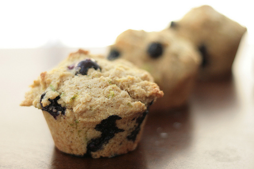 Blueberry Lime Muffins -- Completed Muffins