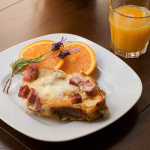Savory Baked French Toast Croque Monsieur (with Ham and Cheese)