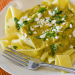 Pappardelle with Pumpkin Poblano Cream Sauce