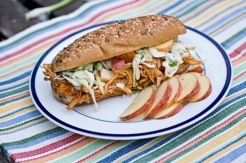 BBQ Chicken Apple Sandwiches