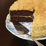Foolproof Chocolate Cake with Pistachio Buttercream Frosting