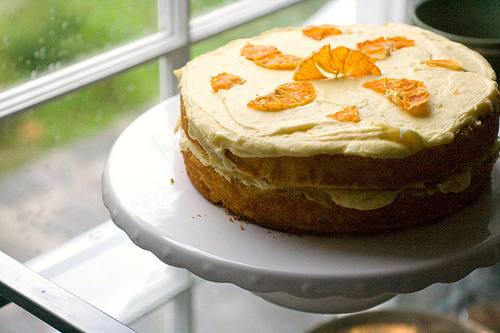 Orange Buttermilk Layer Cake by The Domestic Front