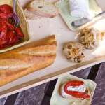 Roasted Garlic, Red Pepper and Goat Cheese Canapes, or Why My Mom is Awesome Sauce