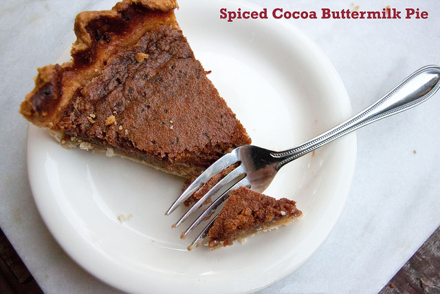 Spiced Cocoa Chess Pie