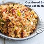 Cornbread, Leek and Bacon Stuffing in the Crock Pot