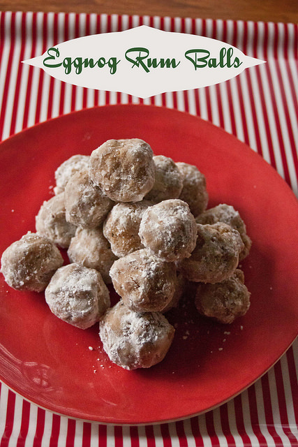 This rum ball recipe features vanilla and nutmeg