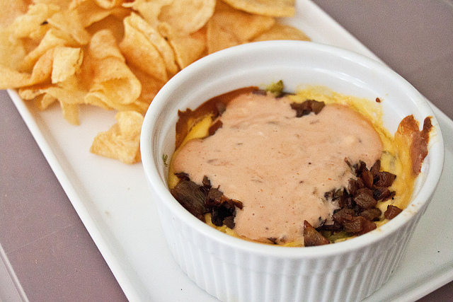 Super Bowl Appetizer, cheeseburger dip In-n-out double double