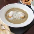 Fennel and Leek Soup with Garlic Croutons