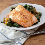 Salmon On Curried Spinach