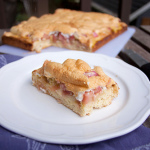 Rhabarberkuchen or Rhubarb Coffee Cake