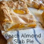 Peach Almond Slab Pie