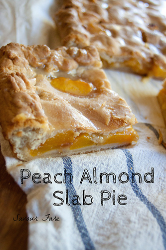 Peach Almond Slab Pie Slice