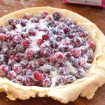 Fresh Cranberry Pie with Marzipan and How to Make Pie Crust
