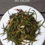 Roasted Green Beans with Herbs and Scallions