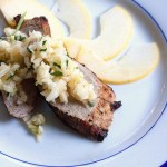 Miso Pork Tenderloin with Apple Ginger Relish