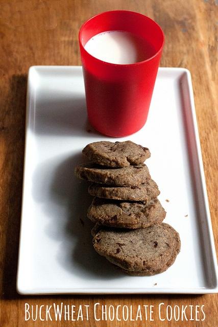 Slice and Bake Buckwheat Chocolate Shortbread