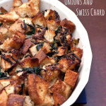 Sourdough Stuffing with Caramelized Onions and Chard