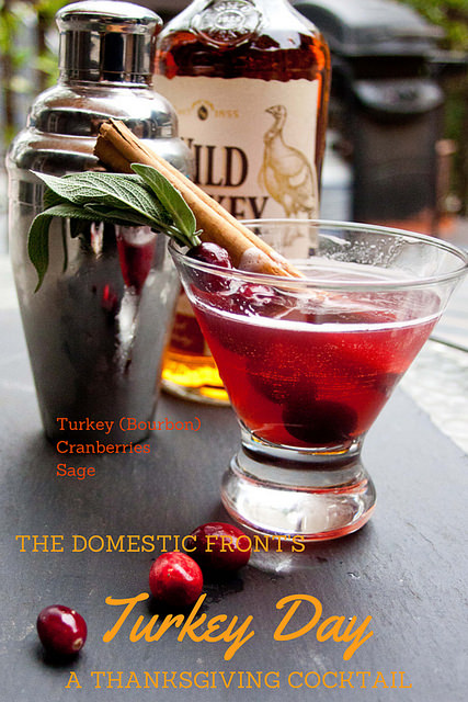 Bourbon, cranberry and sage combine to make a perfect cocktail for fall and Thanksgiving.