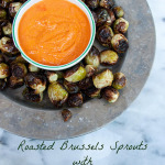 Roasted Brussels Sprouts with Hazelnut Romesco