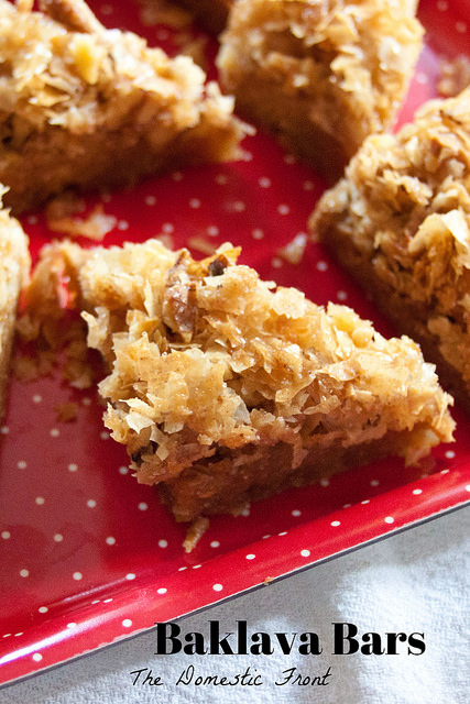 Baklava Bars - Easy Christmas Cookie Recipe •The Domestic Front