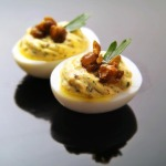 Deviled Eggs with Capers and Parsley