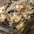 Kale and Cabbage Gratin and How to Chop an Onion