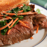 Borderline Bánh Mì – Vietnamese Style Steak Sandwiches with Pickled Carrots and Cilantro