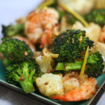 Simple Meets Sublime — Roast Shrimp with Broccoli and Cauliflower