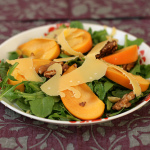 Flavors of Fall — Arugula Salad with Persimmons and Gouda