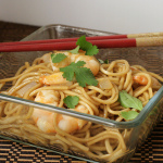 Steamy Kitchen Cookbook Review and Garlic Butter Noodles with Shrimp