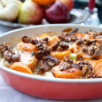 Sweet Potatoes with Gorgonzola Cream and Toasted Walnuts