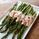 Roasted Asparagus with Creamy Tomato Sauce
