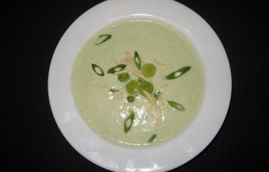 White Almond Garlic Gazpacho with Green Grapes