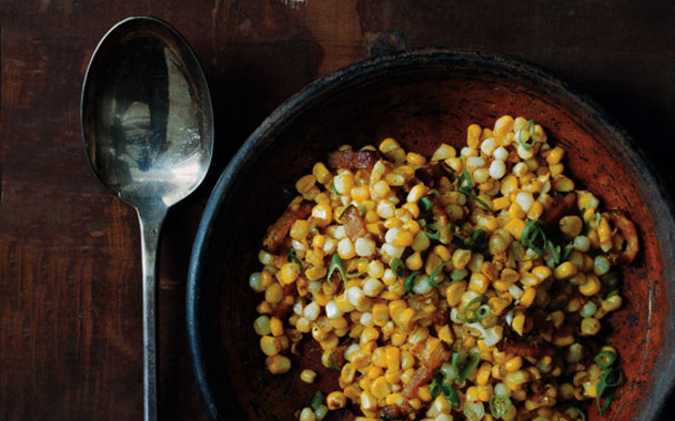 Corn with Miso Butter and Bacon