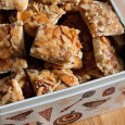 This is a favorite one of my Christmas Cookie Recipes - almonds, jam and shorbread