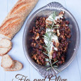 Fig and Olive Tapenade with rosemary and goat cheese is an easy holiday party appetizer